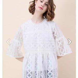 Chicwish Summer Lovin Embroidered top size medium